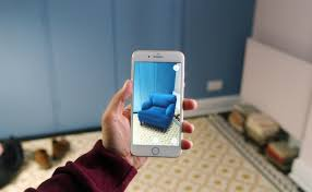 Blue Chair Shown Through Augmented Reality