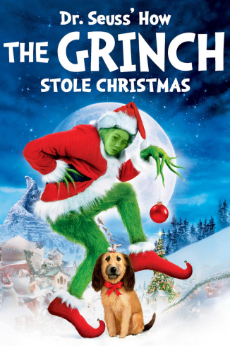 My sister, Kara, as the Grinch Who Stole Christmas